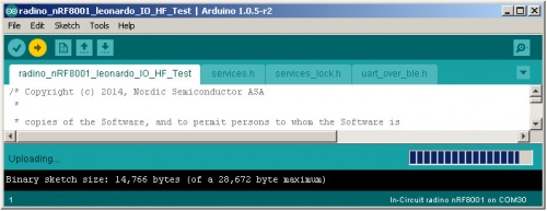 Arduino IDE Upload