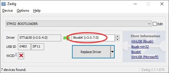 stm32 virtual com port driver download windows 7 64 bit
